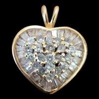 14K Diamond Encrusted Heart Pendant