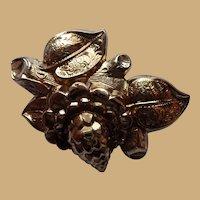 Victorian 1890's 10K Yellow Gold Flower Pin Brooch