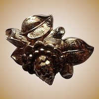 Victorian 1890's 10K Yellow Gold Flower Pin Brooch