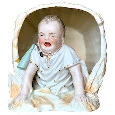 Unusual German Bisque screaming baby