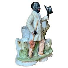 German bisque figure of black gentleman