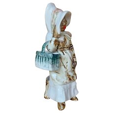 German All Porcelain of young black lady figurine