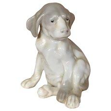 German Glazed porcelain Gebruder Heubach puppy