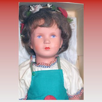 US Zone Celluloid Kathe Kruse Doll in Original Box