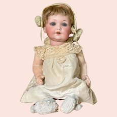 All original A.M. baby with unusual head construction with voice box in head