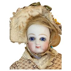 """Petite 12"""" French Fashion doll attributed to Jumeau"""