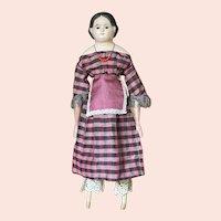 """19"""" glass eyed """"Pre-Greiner"""" papier-mache  shoulder head doll"""