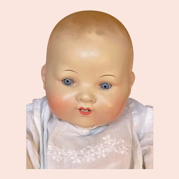 """15"""" long Armand Marseille 351 painted bisque Character baby"""