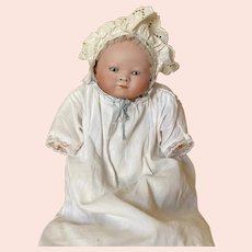 "Rare bisque head infant doll by "" ARTHUR GERLING """