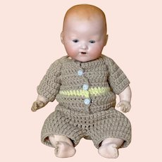 "Cute 11"" ( 28 cm ) Armand Marseille 351 Character baby on composition body"