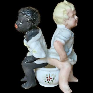 "German Bisque figure "" Double Potty Baby """