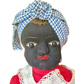 "Exquisite 21"" ( 53 cm ) ""Black Beecher-type"" cloth doll"