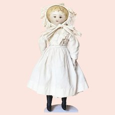 "16"" ( 41 cm ) earliest period (circa 1890) Cloth Presbyterian Rag Doll"