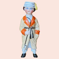 """4 1/2"""" ( 11 cm ) German All bisque Character figurine"""