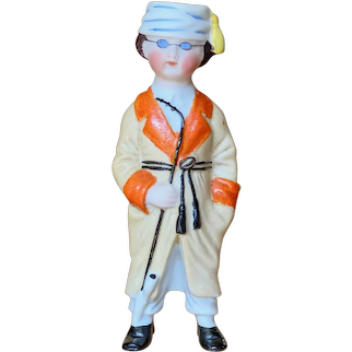 "4 1/2"" ( 11 cm ) German All bisque Character figurine"