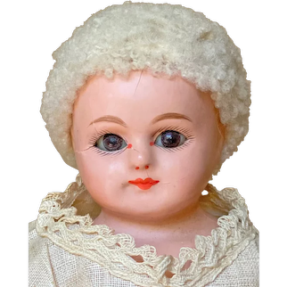 "All Original 9"" (23 cm) heavy composition shoulder head doll by Dressel"
