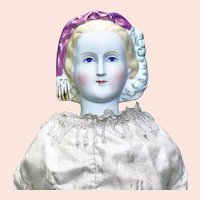 """Lovely """" Princess Eugenie """" Parian Shoulder Head Lady Doll"""