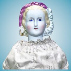"Lovely "" Princess Eugenie "" Parian Shoulder Head Lady Doll"