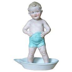 Excellent Quality Gebruder Heubach Boy in Tub