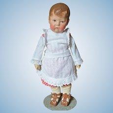 Kathe Kruse Doll 1 in Mostly Original Clothing Circa World War I Period
