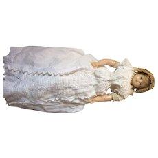 English pierotti poured wax doll, circa 1860