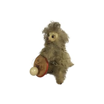 Roulette & Decamps mechanical poodle, French circa 1900