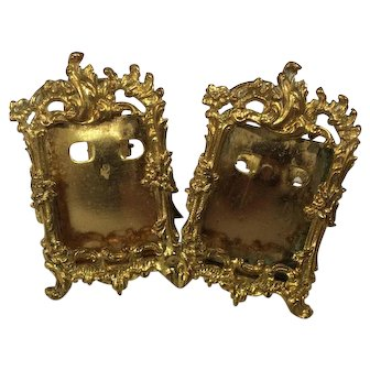 Gilt metal double picture frame, German circa 1890