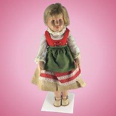 Kathie Kruse doll, German 1950's