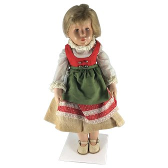 Kathie Kruse doll, German 1950's