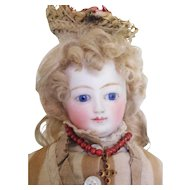 """15"""" French Fashion Pressed Bisque in Original Clothes Blue Eyes"""