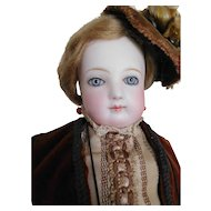 """17"""" Jumeau French Fashion Puppe Pressed Bisque Lady"""