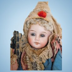 "Antique German Kestner French Look 16"" Marotte Bisque Head Musical Toy"