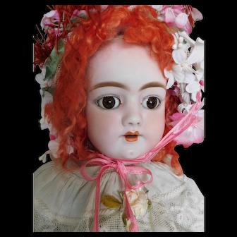 """Antique Heinrich Handwerck 109 German Bisque Socket Head 23"""" Child"""