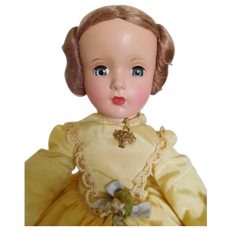 "Rare! Vintage 1950's Alexander 14"" Renoir Hard Plastic Margaret Face Tagged All Original"