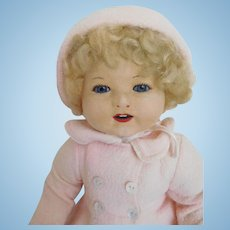 "Rare!  17"" Vintage Chad Valley Royalty Glass Eye Baby Toddler w/Original Clothes"