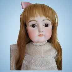 "Early Antique Kestner Closed Mouth 27"" Bisque Child w/ Square Cheeks"