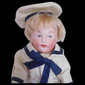 "Antique 9"" Gebruder Heubach 8771 Bisque Socket Head Boy"