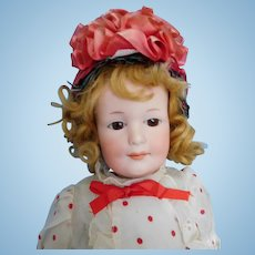 """Rare! 16"""" Armand Marseille AM 550 Closed Mouth Bisque Character Girl"""
