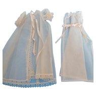 """Vintage 1950's Peignoir 2 Pc. Pink Nylon Nightgown & Robe for 18"""" Fashion Doll"""