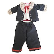 "Antique Reproduction 3 Piece Boy Doll Suit for 19""-20"" Doll"