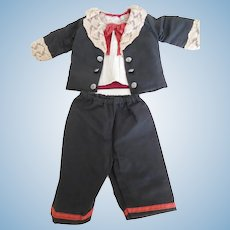 """Antique Reproduction 3 Piece Boy Doll Suit for 19""""-20"""" Doll"""