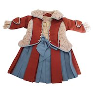 """Antique Reproduction Dress,  Vintage & Antique Fabric &  lace  for 19""""-20"""" French or German Doll"""