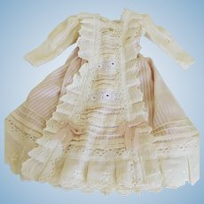 """Antique Reproduction Fashion or Lady Dress Anitque Cotton Fabric for 14""""-16"""" Doll"""