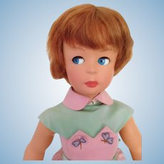 "Vintage Italy 1950's Bonomi 20"" Flirty Eye Hard Plastic Teen w/ Wrist Tag"