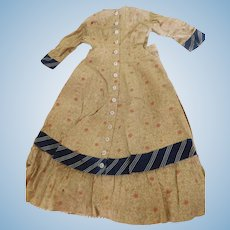 Antique French Fashion or China Doll 3 Pc. Outfit Dress for M-L Size Doll