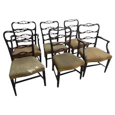 A Set of 6 Chippendale Style Mahogany Dining Chairs