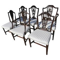 A Set of Hepplewhite Chairs
