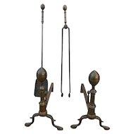 Andirons & Matching Tools