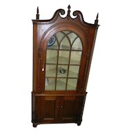 Early 19th Century 2 Piece Corner Cupboard