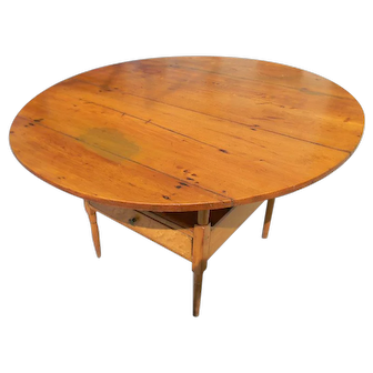 19th Century American Maple Chair Table
